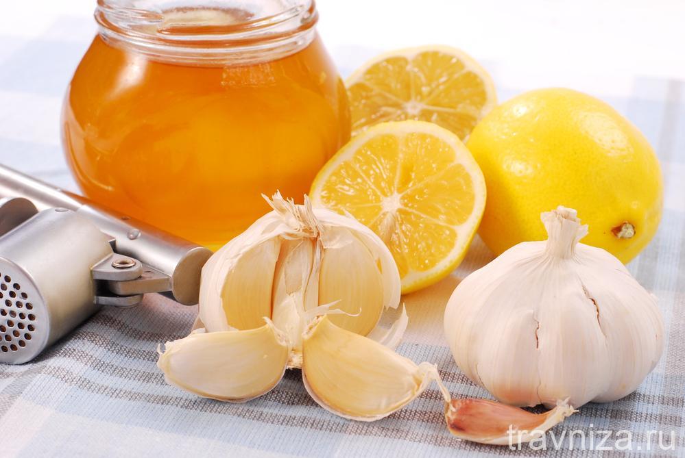 мед, чеснок и лимон влияют на здоровье капилляров и сосудов