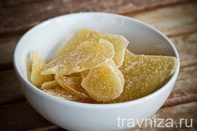 сахарные дольки имбиря