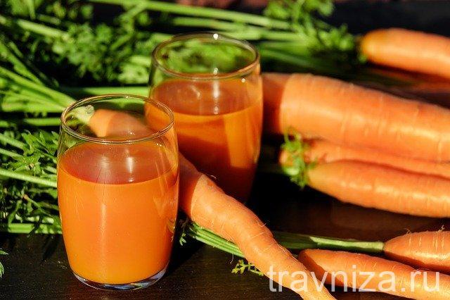 морковный сок для зрения