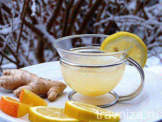 Чай с имбирем, лимоном и мёдом — мощное противовирусное средство. Рецепт