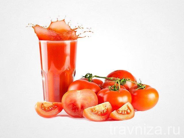 томатный сок для глаз