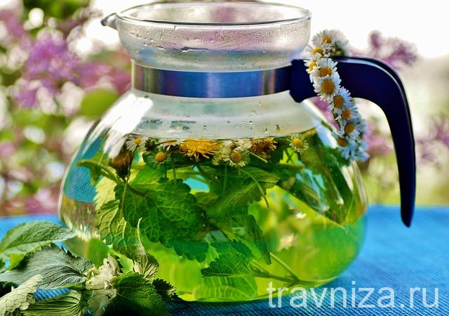 травяной чай в домашних условиях